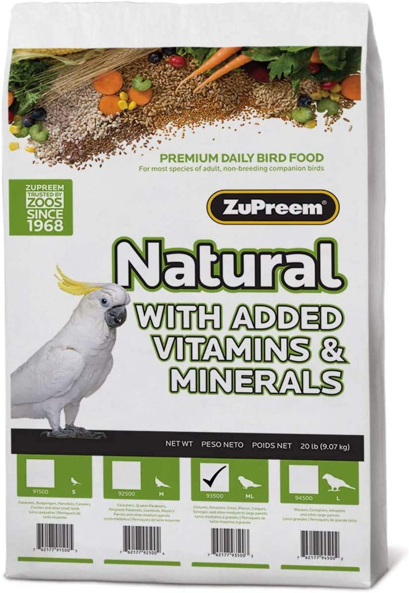 Zupreem Avianmaintenance Natural Bird Diet For Parrots And Conures