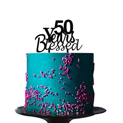 Amazon 50 Years Blessed Cake Topper For Loved