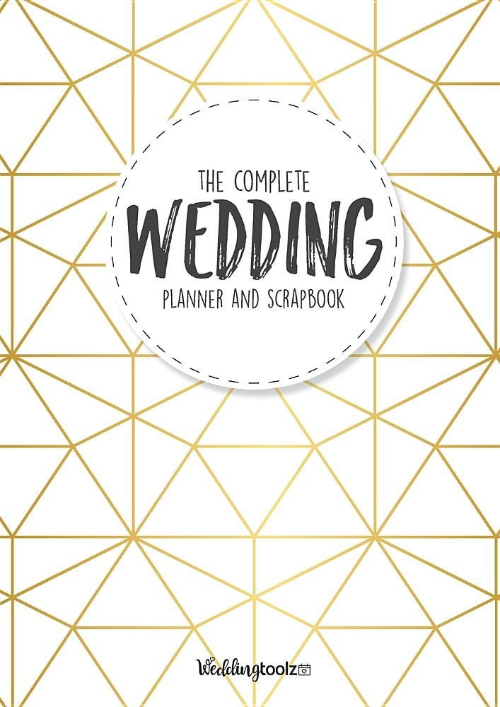 the-complete-wedding-planner-and-scrapbook-gold-geometric-style-cover