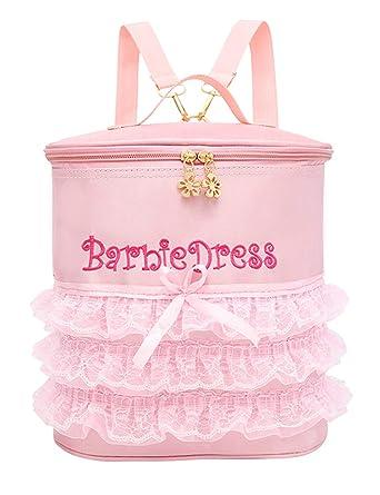 besbomig Bolsa de Ballet de Color Rosa para niñas Mochila Bordada Mini Bolso de Mano Danza Zapato Bolsa: Amazon.es: Ropa y accesorios