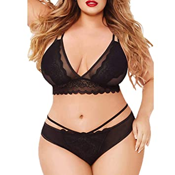 9fcee321cd61 Image Unavailable. Image not available for. Color: Women Plus Size Lingerie  ...