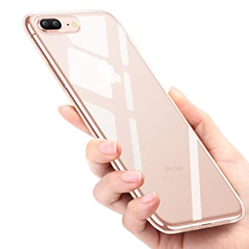 KKtick Funda iPhone 8 Plus, Funda Carcasa Bumper Case iPhone 7 Plus [ Ultra Slim ] Silicona Gel TPU Shock-Absorción y Anti-Arañazos Espalda Case Cover ...