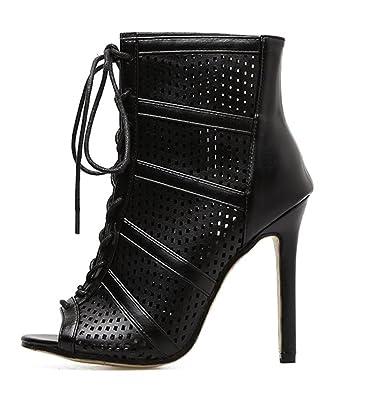 104a00036427 edv0d2v266 Women High Heels Sandals Woman s Ankle Strap Boots Sandals Thin Heels  Peep Toe Pumps Women
