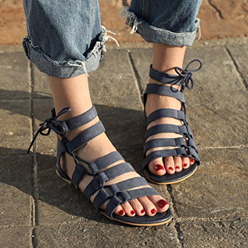 Mujer Zapatos Sandalias Calzado Tacones Planos Chancletas Bohemia bf6g7yY