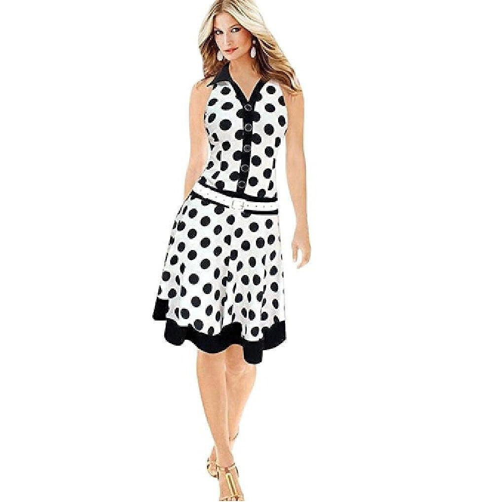 Rambling Fashion Polka Dot Low Waist Dress for Women 259ed6070