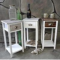 Livitat® Nachttisch Nachtschrank Nachtkonsole Nachtschränkchen Shabby Vintage