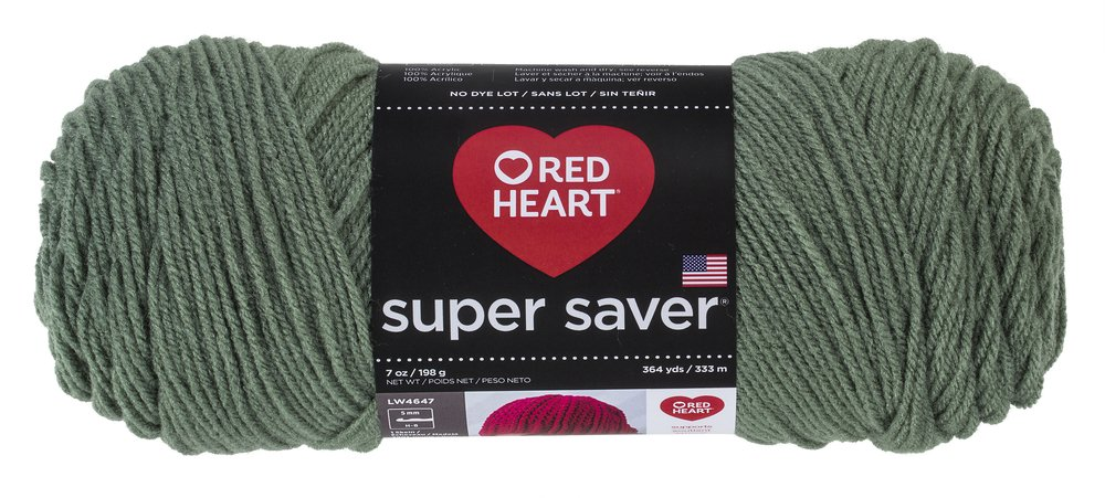 RED HEART Super Saver Yarn Frosty Green