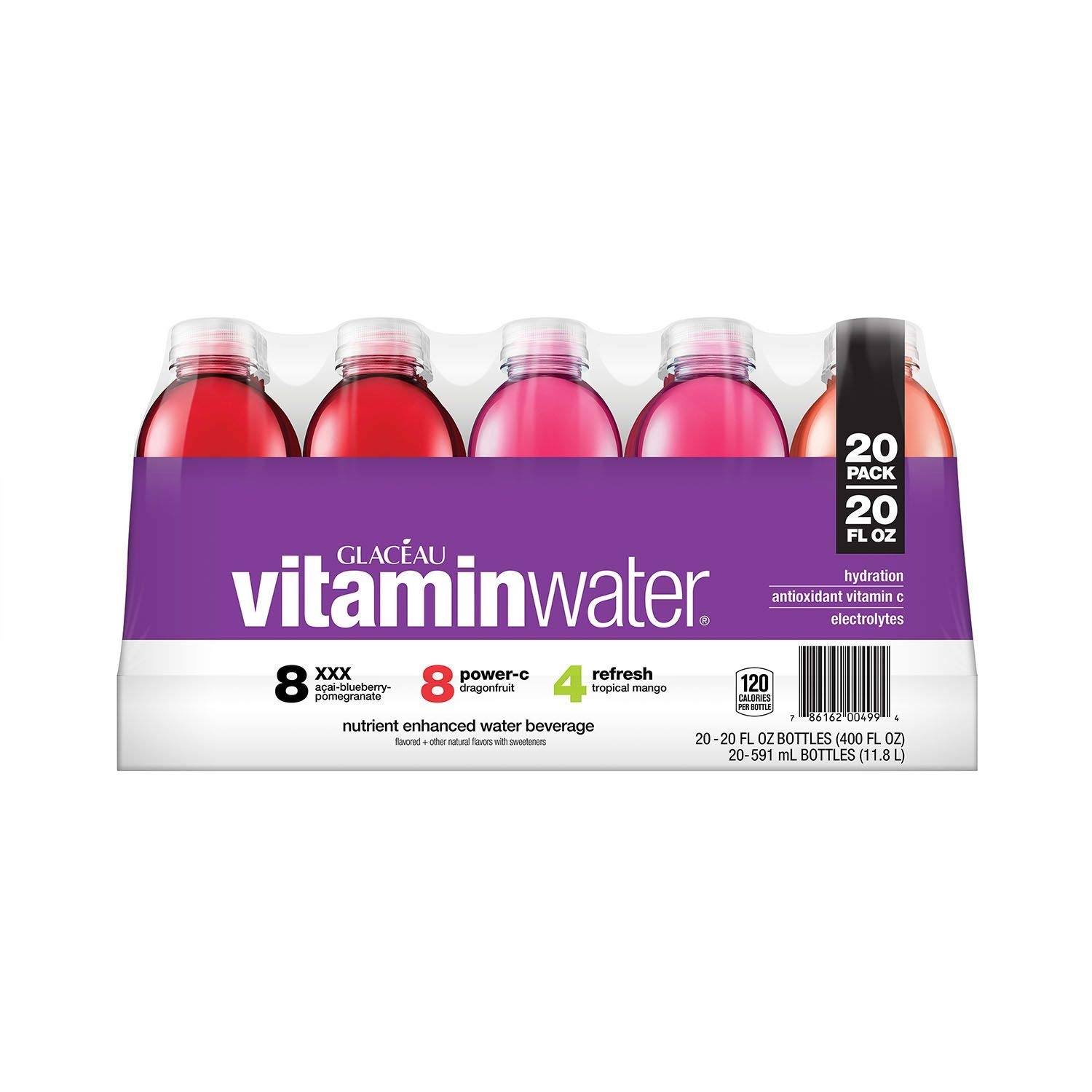 Glaceau vitaminwater Variety Pack 20 oz, 20 pk. (pack of 4) A1 by Store-383