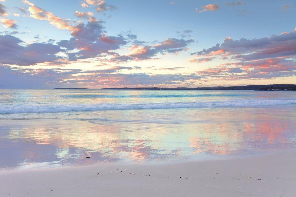 Startonight Wall Art Canvas Daydream Serenity Beach, Water USA Design for Home Decor, Dual View Surprise Artwork Modern Framed Ready to Hang Wall Art 23.62 X 35.43 Inch 100% Original Art Painting!