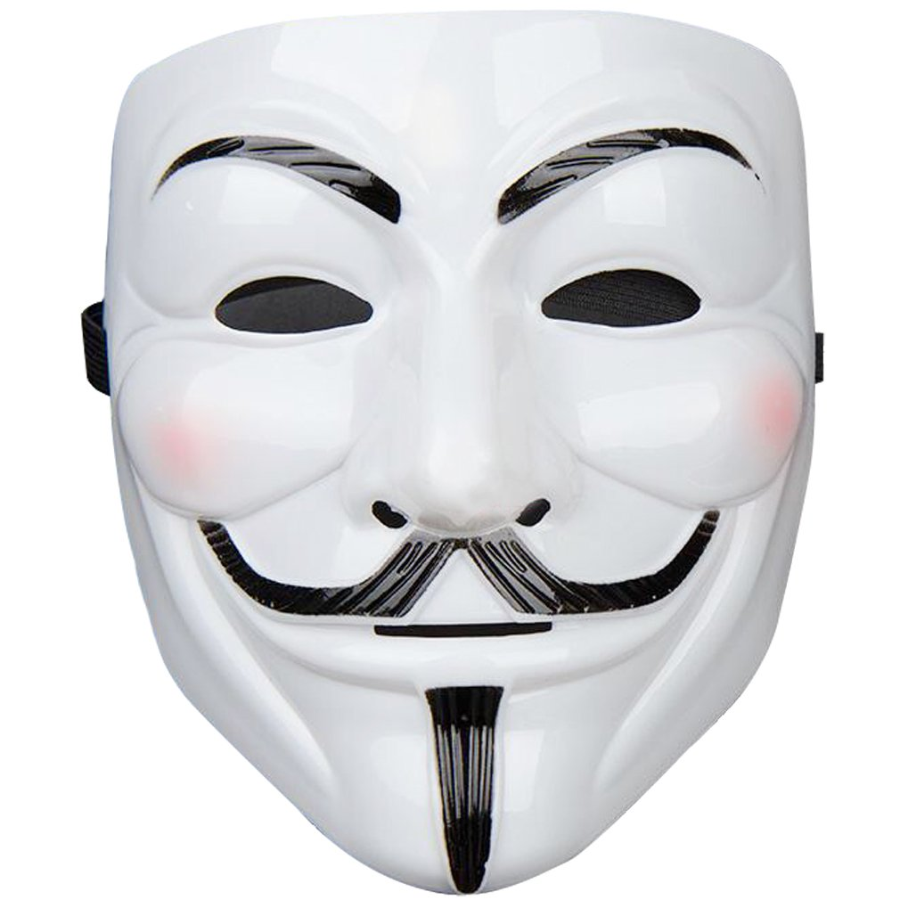 Amazon.com: XZLIN 2 Pieces Guy Fawkes Anonymous V for Vendetta Costume Maskk,V Vendetta Yellow and White: Home & Kitchen