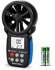HoldPeak 866B-WM Digital LCD Anemometer Handheld Wind Speed Meter for Measuring Wind Speed, Temperature, Wind Chill, Relative Humidity and Dew Point with Backlight and Max/Min