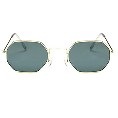 0266ffa0929 Image Unavailable. Image not available for. Color  nboba Fashion Sunglasses  Women Small Frame Polygon Clear Lens ...