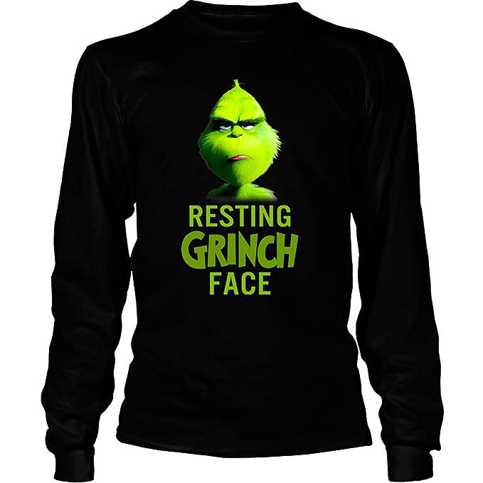 6bb99bbaccb Amazon.com  Resting Grinch Face T Shirt