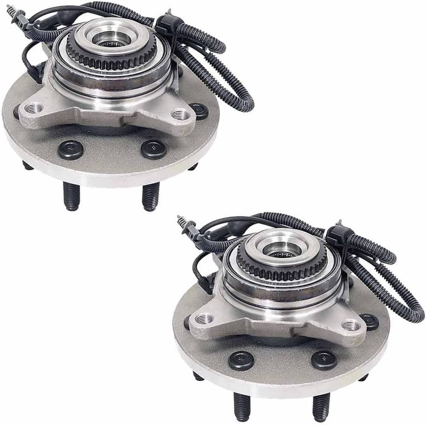 PAIR Front Wheel Hub Bearing Assembly For 2011-2014 FORD F-150 4WD, 6 STUDS