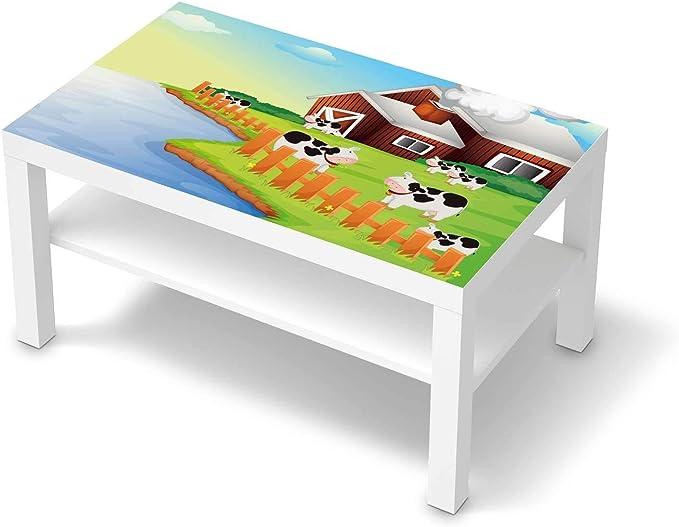 creatisto Möbelfolie für Kinder passend für IKEA Lack Tisch 90x55 cm I Tolle Möbeldeko für Kinderzimmer Deko I Design: Cowfarm 2