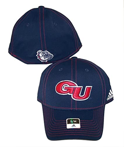 f8c17fc8d23 Image Unavailable. Image not available for. Color  Gonzaga Bulldogs Adidas  Hat Small   Medium Flex Fit Cap NCAA Authentic - Best Fits 7