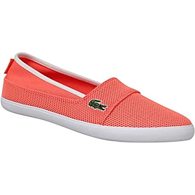 Amazon.com | Lacoste Womens Marice 117 Mesh Slip On Espadrille Orange | Fashion Sneakers