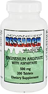 Advanced Research - Magnesium Arginate with Aspartate 500 mg. - 200 Tablets CLEARANCE PRICED