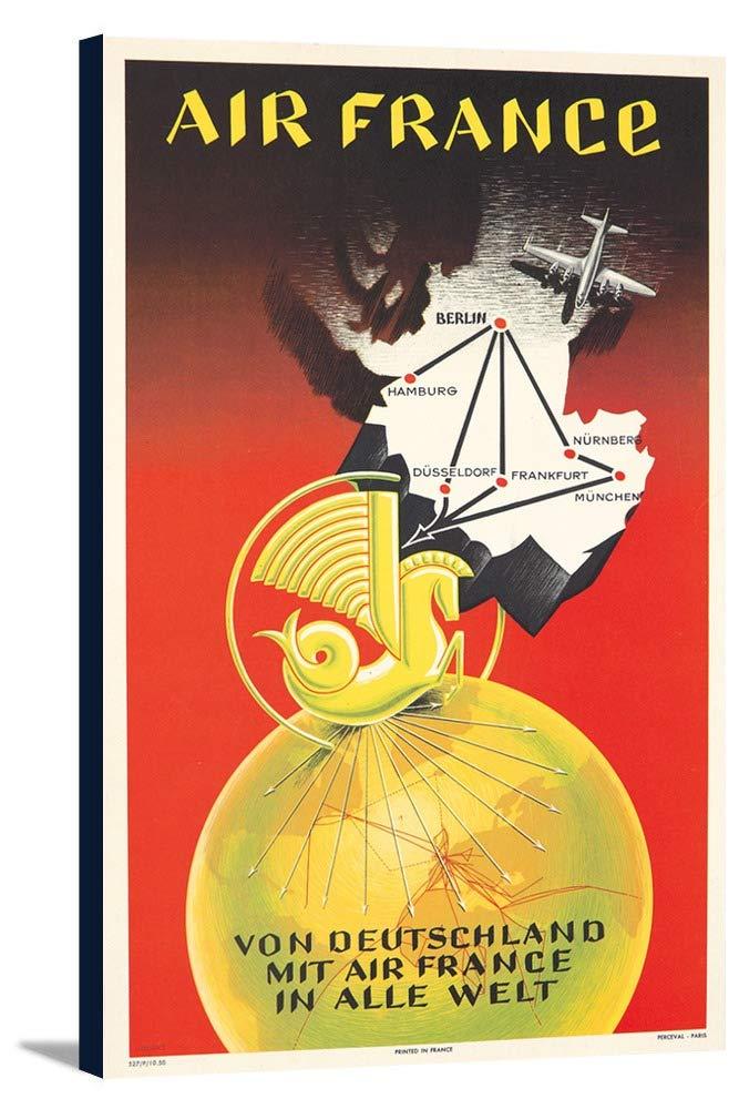 エアフランス – Deutschlandヴィンテージポスター(アーティスト:ロバート)フランスC。1950 15 x 24 Gallery Canvas LANT-3P-SC-73743-16x24 B01DZ1Z1Q8  15 x 24 Gallery Canvas