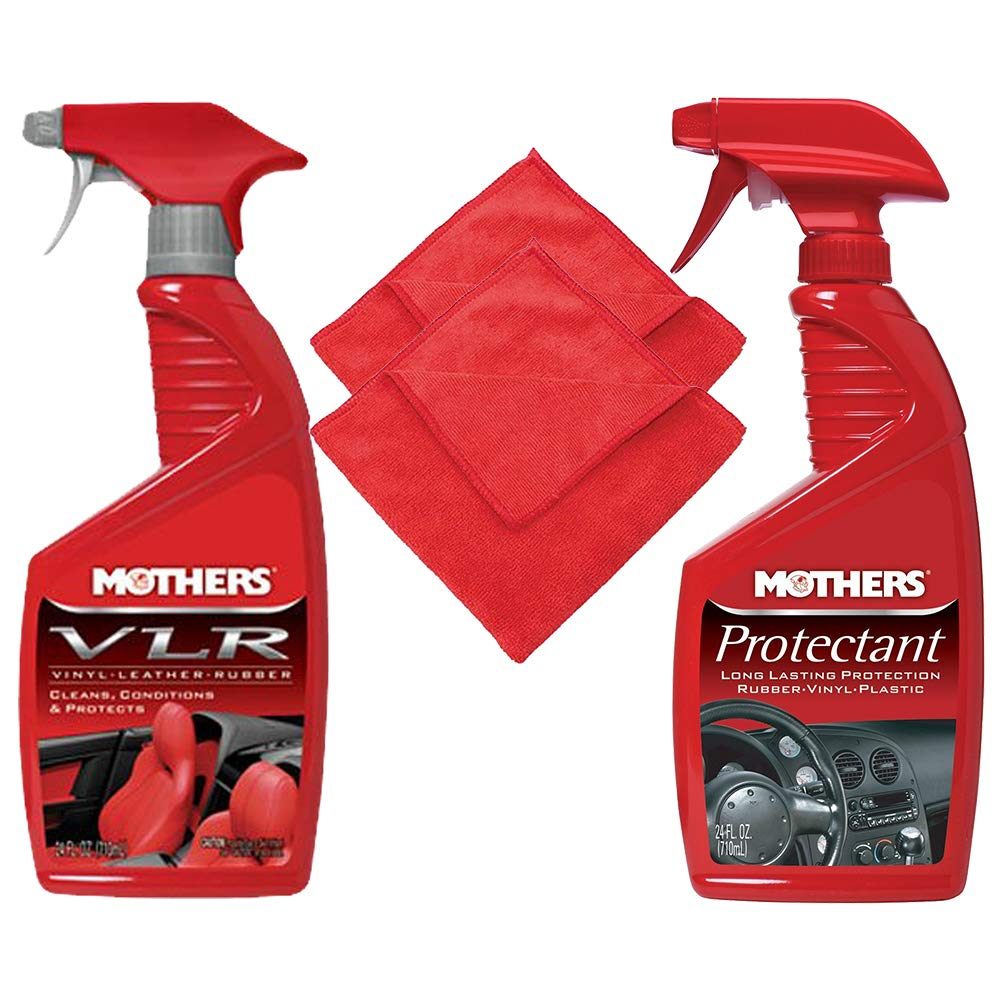 Mothers Protectant and VLR Vinyl-Leather-Rubber Care - 24oz Cleaning Kit