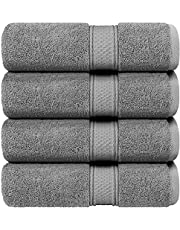 Utopia Towels - Bath Towels Set, (27 x 54 Inches) - Luxurious 700 GSM 100% Ring Spun Cotton - Quick Dry, Highly Absorbent, Soft Feel Towels, Perfect for Daily Use (4-Pack)
