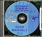 1933-1934 Pontiac CD-ROM Repair Shop Manual