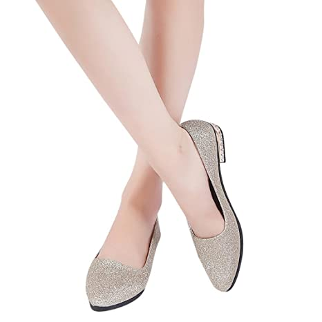 8615de8cf1d9 Image Unavailable. Image not available for. Color  Hemlock Women Office  Shoes Flats Sandals Soft Wedding Flats Lady Boat Wedge Shoes (US