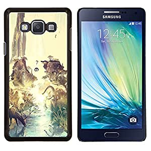 YiPhone /// Prima de resorte delgada de la cubierta del caso de Shell Armor - Dinosaurio surrealista Venado Tierra - Samsung Galaxy A7 A7000