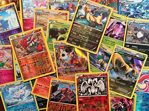 Pokemon 50 Card Lot w/ 3 Reverse or Holofoil Cards- Pokemon Cards No Duplicates