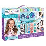 make up kit for starters - Make It Real - Mega Mermaid Makeover. Mermaid Themed Girls Makeup Kit. Starter Cosmetic Set for Kids and Tweens. Includes Case, Mirror, Eye Shadow, Blush, Mermaid Brushes, Lip Gloss, Nail Polish