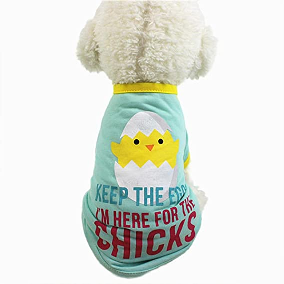SunGren Camiseta del animal doméstico, camiseta linda del gato del perro del animal doméstico Ropa Pequeño traje del perrito Camisetas de perro del animal ...