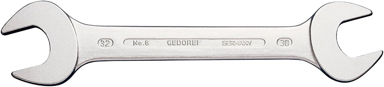 Blendfreie Optik Hochwertiger Vanadium-Stahl GEDORE Doppelmaulschl/üssel 18 x 21 mm Nach DIN 3110 Silber