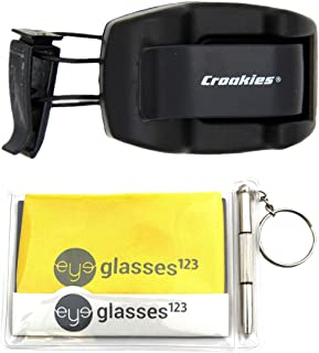 product image for Croakies Sunglass Holder, Shade Dock, Visor Clip, 1 Pack, w/Cloth and Optical Screwdriver