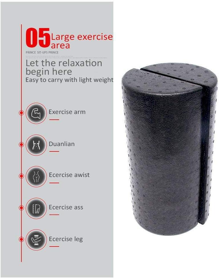 Equipos de yoga Pilates con punto flotante para masajes,30cm,negro 2 Pieza Mitad Ronda Fitness Rodillo de Espuma EVA con punto flotante de masaje,Rodillo de espuma semicircular para masaje muscular