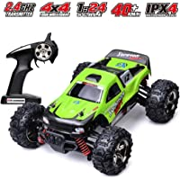 Remote Control Car, 2.4 GHZ High Speed Racing Car with 2 Rechargeable Lithium Battery,Electric RC Cars 1:24 Scale Trucks…