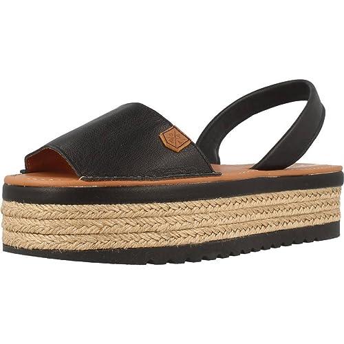 MENORQUINAS POPA Alpargatas Para Mujer, Color Negro, Marca, Modelo Alpargatas Para Mujer Onna Negro: Amazon.es: Zapatos y complementos