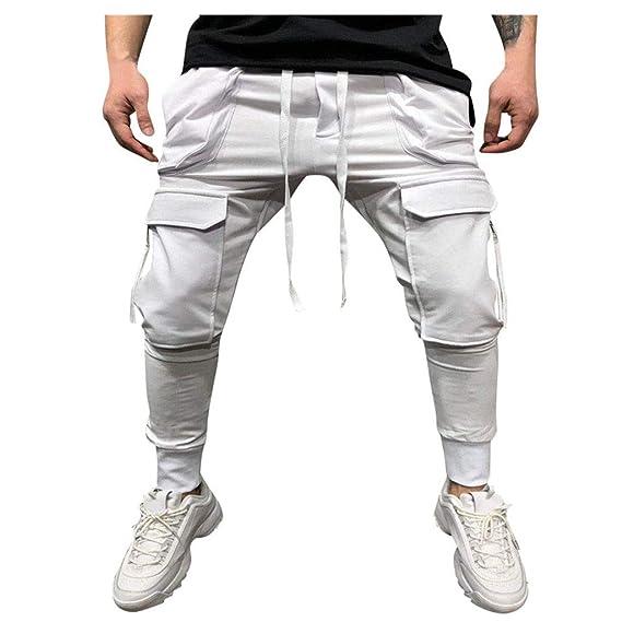 precio competitivo estilo clásico super popular MXJEEIO Pantalones Hombre Verano Chándal de Hombres Drawstring ...