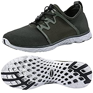 ALEADER Women's Adventure Aqua Water Shoes Army 9 D(M) US