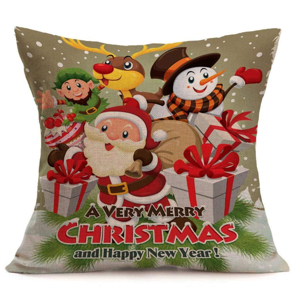 Amazon.com: Fundas de almohada de Navidad, Toaimy Santa ...