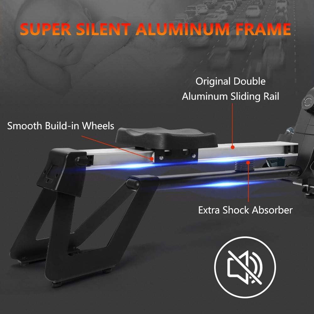 Dripex Magnetic Rowing Machine - Super silent aluminum frame