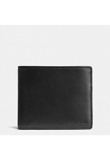 e17be8e4c266 Amazon.com  COACH Men s Sport Calf Compact ID Wallet Black Wallet  Shoes