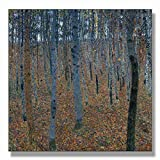 Gustav Klimt Birch Forest I (Beech Grove I) 1902 Original Landscapes Canvas Paintings Hand Painted Reproduction Unframed Tablet - 48X48 inch (122X122 cm) for Living Room Wall Decor To DIY Frame