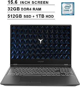 Lenovo 2020 Legion Y540 15.6 Inch FHD IPS Gaming Laptop (9th Gen Intel 6-Core i7-9750H up to 4.5 GHz, 32GB RAM, 512GB PCIe SSD + 1TB HDD, Nvidia GeForce GTX 1660 Ti, Bluetooth, WiFi, HDMI, Windows 10)