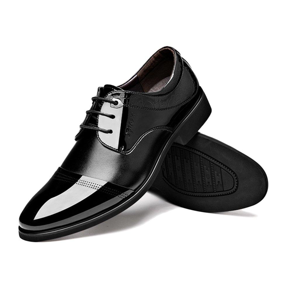 Schwarze Lederschuhe Für Lace-up-Business-Kleid Männer Tan Derby Abendgesellschaft Lace-up-Business-Kleid Für Schuhe schwarz e5a7fe