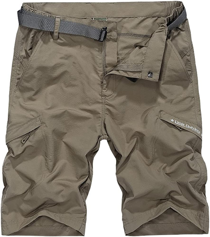 Toomett Men's Outdoor Lightweight Hiking Shorts Quick Dry Shorts Sports Casual Shorts