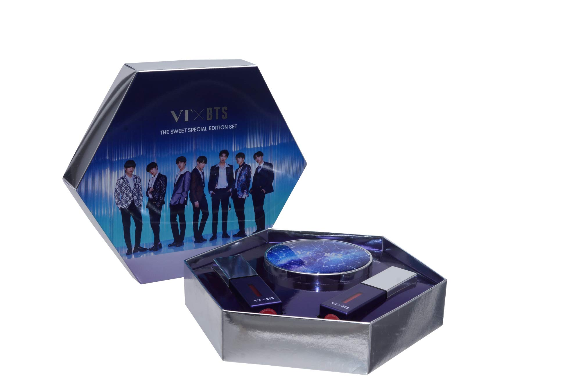 BTS Merchandise Foundation Cushion - The Sweet Special Edition Set, 1 Foundation in a Bangtan Boys Zodiac Sign Case + 2 Liptints by TV