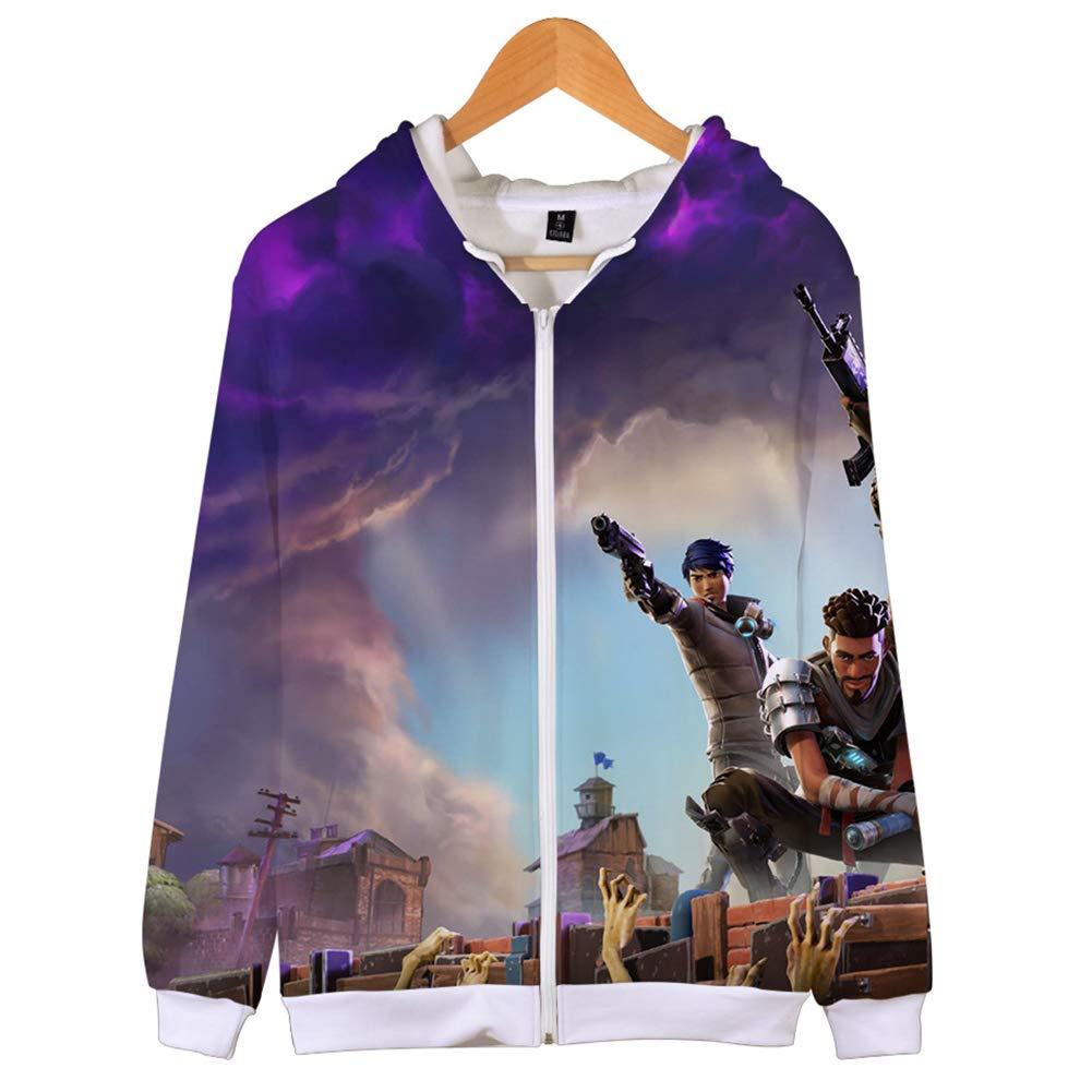Mvruve Fortnite Hoodie Boys Girls Hooded Zipper Up Crewneck Sweatshirt