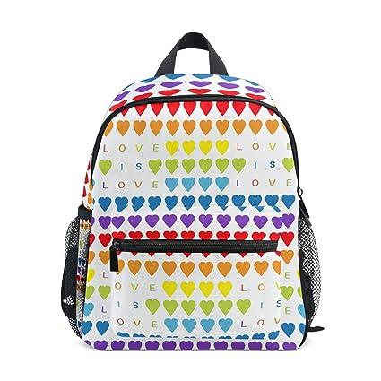 Amazon.com: Mochila infantil con diseño de corazones y ...
