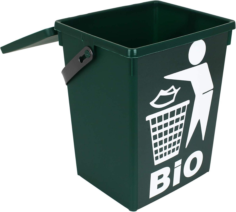 TW20 Bio Mülleimer grün 20L Küche Abfalleimer klein Tischmülleimer  Komposteimer Biotonne Tischabfalleimer Biomülleimer