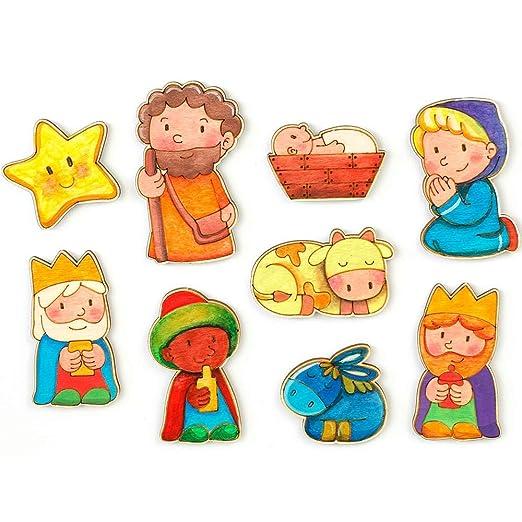 La Lluna Belén para Pintar. Belen Infantil Funny con 9 Figuras de ...